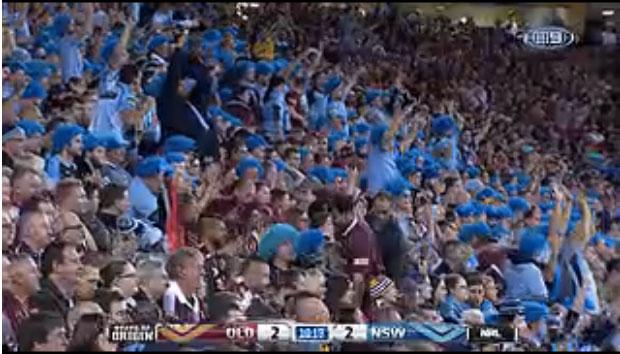 ブルーがニューサウスウェールズ州、マロン色がクイーンズランド州です