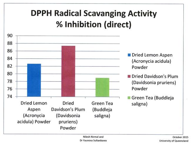 このパウダー、抗酸化作用を計るラジカル消去活性試験の結果でも、やはり高い数値が出ました。